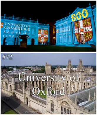 Oxford and Cambridge University