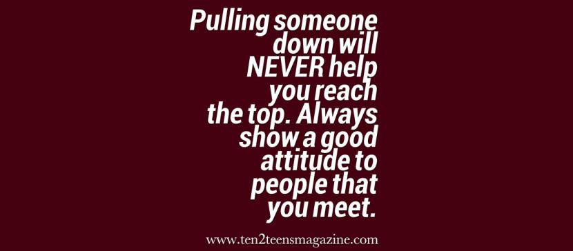 Show A Good Attitude