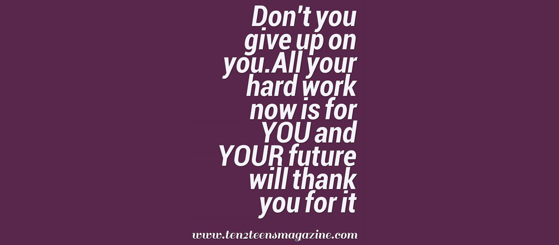 Don't You Give Up on You