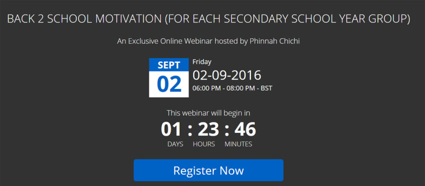 Back 2 School (B2S) Motivation Webinar