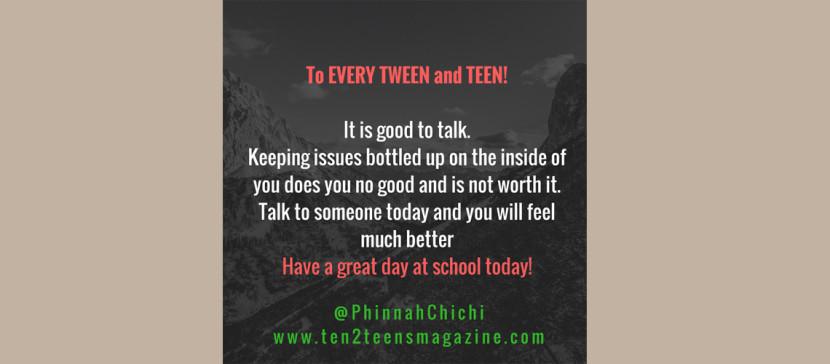 It is good to talk